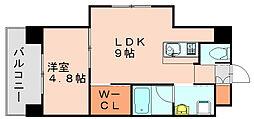 アソシアグロッツォ博多[7階]の間取り