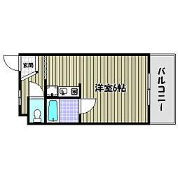 大阪府河内長野市木戸1丁目の賃貸マンションの間取り