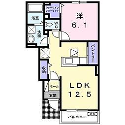 スカイッシュハウス[1階]の間取り
