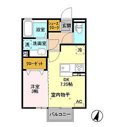 (仮)D-room藤岡[103号室]の間取り