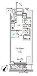 JR総武本線 馬喰町駅 徒歩4分の賃貸マンション 5階1Kの間取り