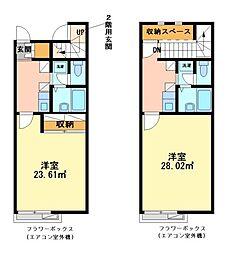 兵庫県姫路市白浜町宇佐崎中1の賃貸アパートの間取り
