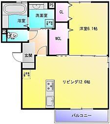 Lien soeur B棟[3階]の間取り