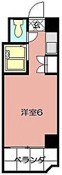 ビブレ西小倉B館[605号室]の間取り