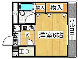 クレール住道[2階]の間取り