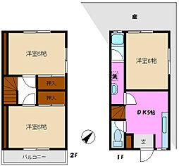 [テラスハウス] 千葉県松戸市幸田3丁目 の賃貸【/】の間取り