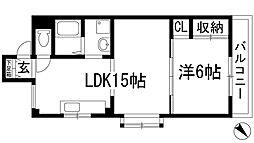 ダイアマンション[2階]の間取り
