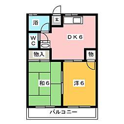 小島マンション[4階]の間取り