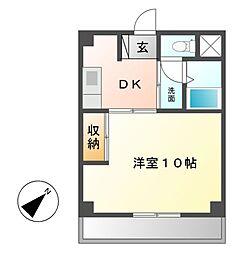 グリーンハイツ徳川[3階]の間取り