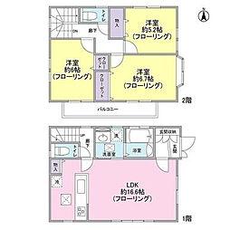 [一戸建] 神奈川県大和市下鶴間 の賃貸【神奈川県 / 大和市】の間取り