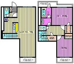 レジデンス大宮[2階]の間取り