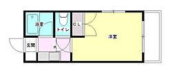 エステート古江新町[3階]の間取り