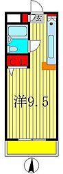 ハイツ松戸II[4階]の間取り