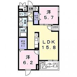 玉櫛2丁目マンション[4階]の間取り