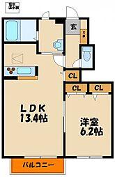 シャーメゾン西明石II[1階]の間取り