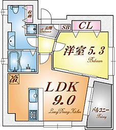 POCO A POCO 三宮ハイタワー[8階]の間取り
