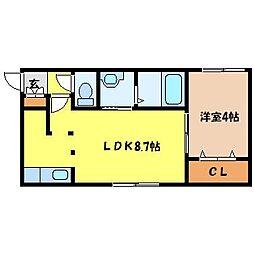 北海道札幌市中央区北二条西18丁目の賃貸マンションの間取り