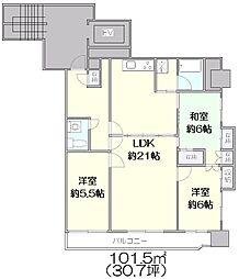 新戸山ビル[7F-A号室]の間取り