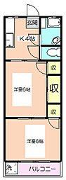 東京都板橋区成増3丁目の賃貸マンションの間取り