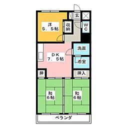 フィールド アパートメント[2階]の間取り