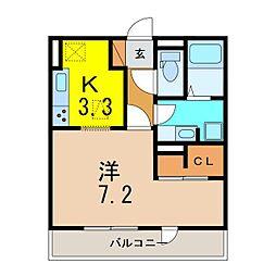 仮)D−room知立池端1丁目[102号室]の間取り