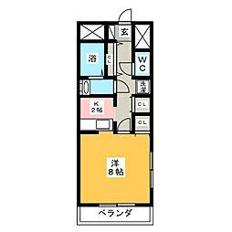 ウインドコート大渡[3階]の間取り