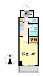 神奈川県川崎市高津区末長2丁目の賃貸マンションの間取り