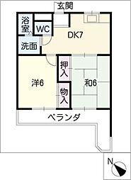マンション横井[3階]の間取り