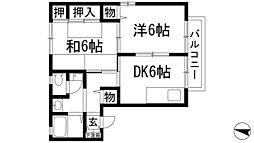 兵庫県伊丹市池尻7丁目の賃貸アパートの間取り
