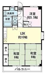 野知マンションA[3階]の間取り