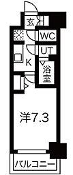 ファステ―ト難波グランプリ 8階1Kの間取り