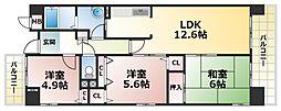 プロスペリテ神戸[7階]の間取り