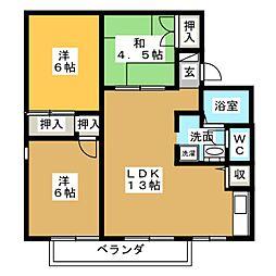 CASADE24 A[1階]の間取り