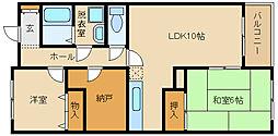 ハイツホロン (Ctype)[3階]の間取り