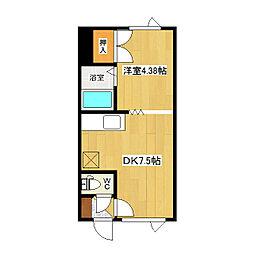 吉野ハイツ3[1階]の間取り