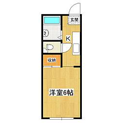 第三中島コーポA[1階]の間取り