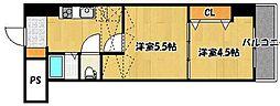 アリビオ南小倉[3階]の間取り