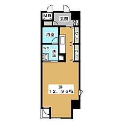 N.S.ZEAL泉[6階]の間取り