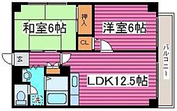 北海道札幌市北区篠路八条6丁目の賃貸マンションの間取り