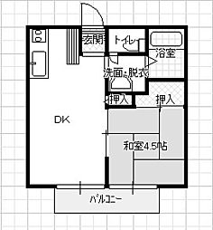 重田ハイツ[201号室]の間取り