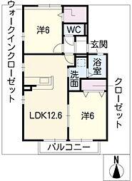 セジュール山幸 A棟[1階]の間取り