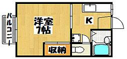 コーポひまわり[2階]の間取り