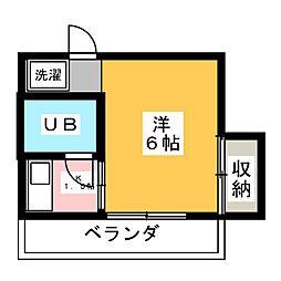 ホワイトコーポ[2階]の間取り