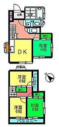 [一戸建] 東京都八王子市台町1丁目 の賃貸【東京都 / 八王子市】の間取り