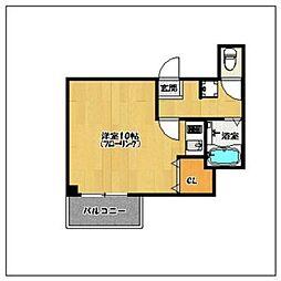 プチメゾン西新ジャスミン館[1階]の間取り