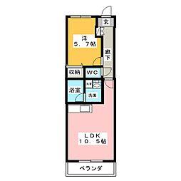 マナール[2階]の間取り