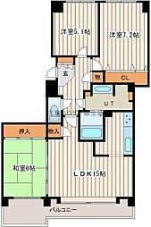 麻生中央シティハウス[4階]の間取り