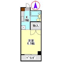安田学研会館 南棟[606号室]の間取り