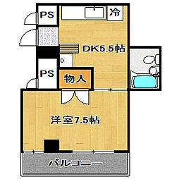 天沼コーポ[5階]の間取り
