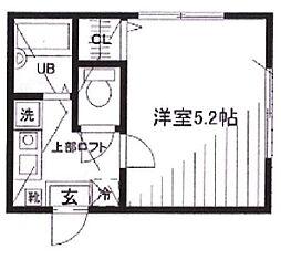 リーヴェルポート横浜山手III[203号室]の間取り